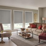 Graber Roller Shades in Sitting Room