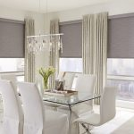 Roller Shades in Dining Room With Cassette Head Rail