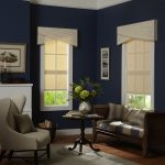 Roller Shades in Blue Room